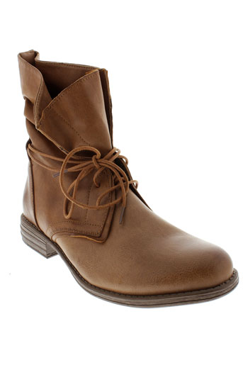 skechers boots femme de couleur marron