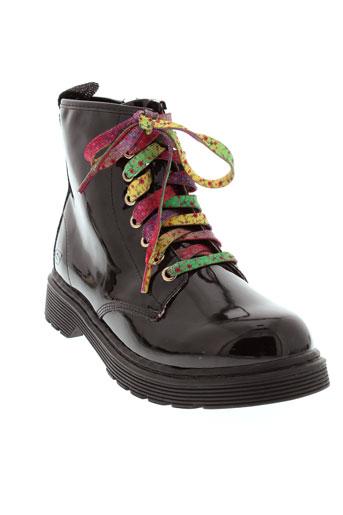 skechers boots fille de couleur noir