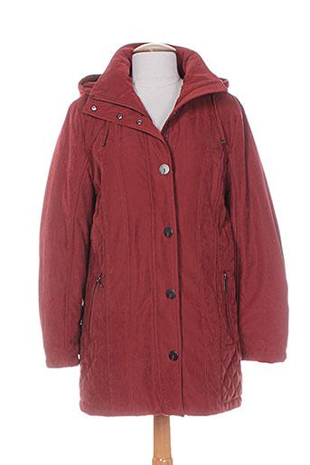isabell manteaux femme de couleur rouge