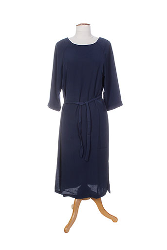 Robe longue bleu ICHI pour femme