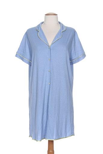 le et chat chemises et de et nuit femme de couleur bleu