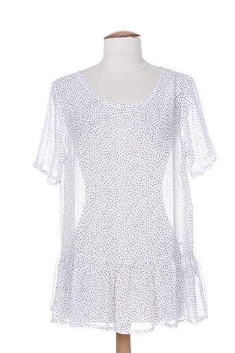 ichi t-shirts femme de couleur blanc