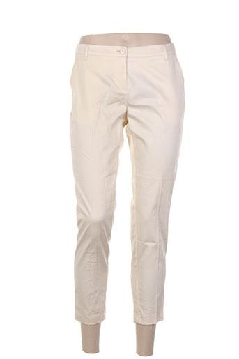 fracomina pantalons femme de couleur beige