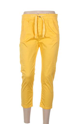 bô-m pantacourts femme de couleur jaune