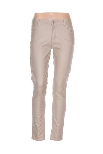 onado pantalons et decontractes femme de couleur beige