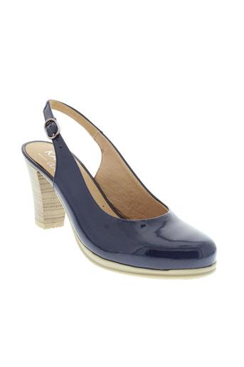 karston escarpins femme de couleur bleu