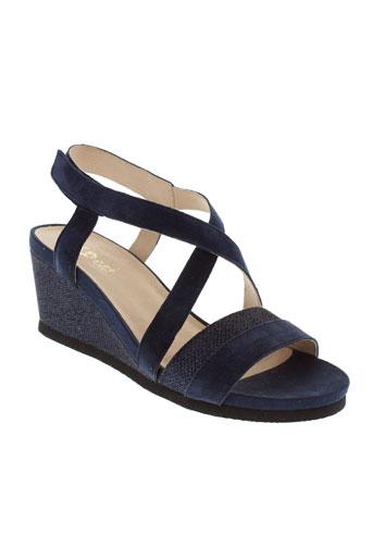 sweet sandales et nu et pieds femme de couleur bleu