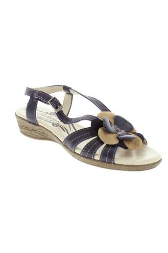 salmone chaussures femme de couleur bleu