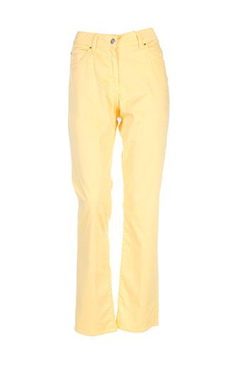 claude et de et saivre pantalons et decontractes femme de couleur jaune