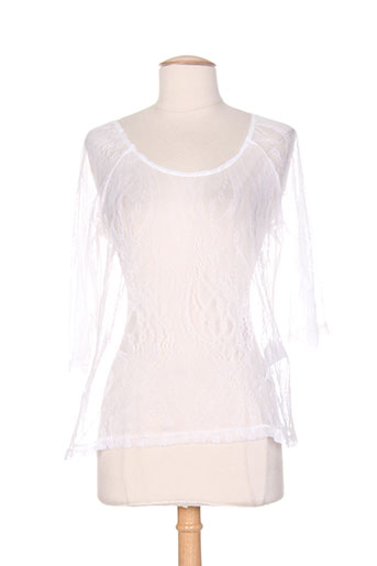 alice et barnabe chemises femme de couleur blanc