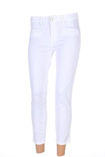 desgaste pantacourts femme de couleur blanc