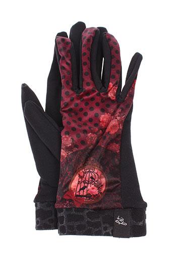 fst et handwear echarpes et gants femme de couleur rouge