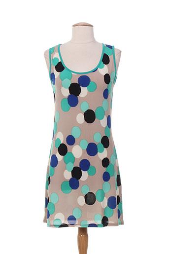 mielo moda tuniques femme de couleur bleu