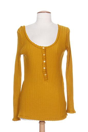 carla giannini pulls femme de couleur jaune