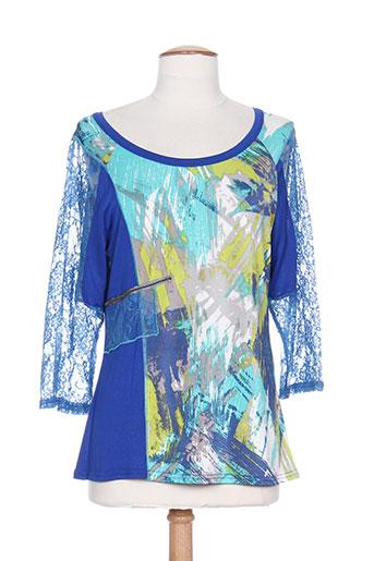 femmes je vous aime chemises femme de couleur bleu