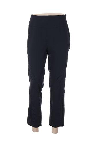 areline pantalons femme de couleur bleu