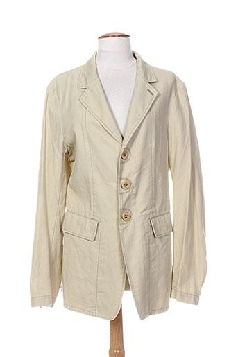 Veste casual beige MARITHE & FRANCOIS GIRBAUD pour homme