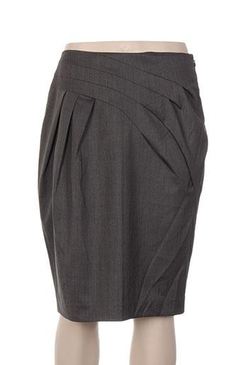 Jupe mi-longue gris BLACK LABEL pour femme