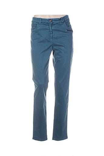sbelt jeans pantalons femme de couleur vert