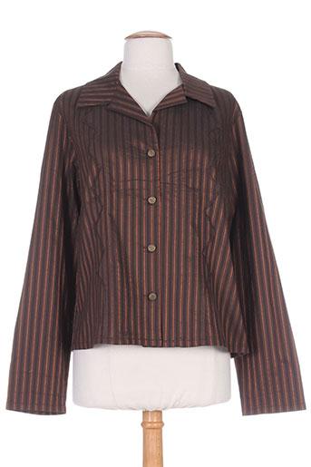 coco menthe chemises femme de couleur marron