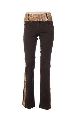 dp jeans pantalons femme de couleur marron