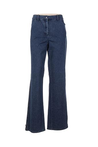 znj jeans femme de couleur bleu