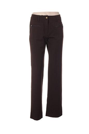 gina b heidemann pantalons femme de couleur marron