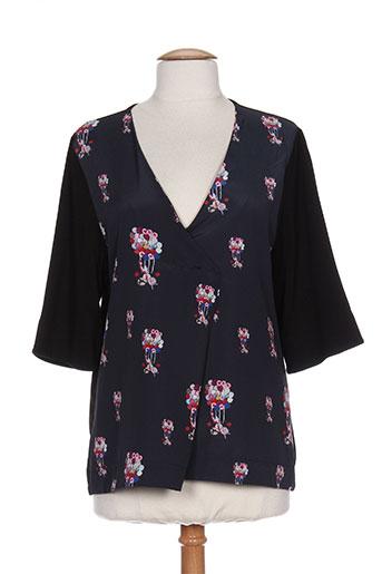 made in sens chemises femme de couleur noir