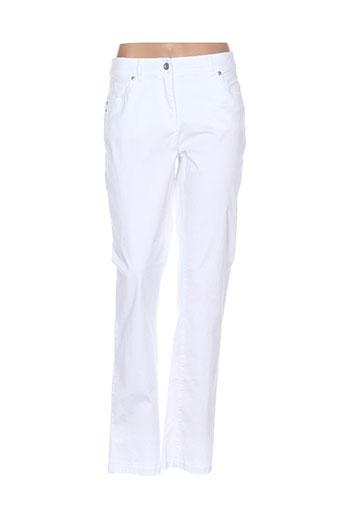 brandtex pantalons et decontractes femme de couleur blanc