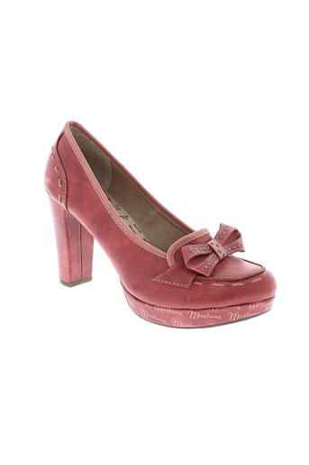 mustang escarpins femme de couleur rouge