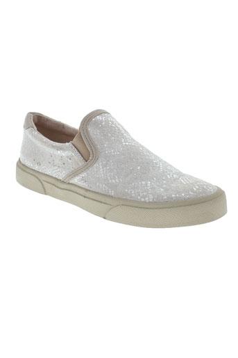 armistice chaussures femme de couleur blanc