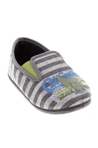 java pantoufle garcon de couleur gris