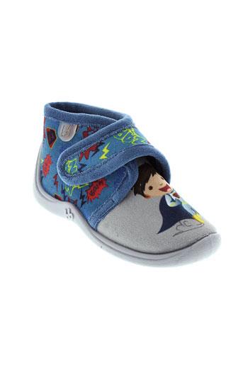 babybotte pantoufle garcon de couleur bleu