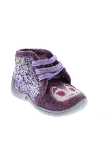 babybotte pantoufle fille de couleur violet