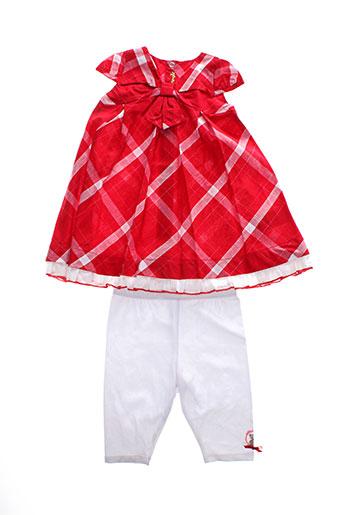 berlingot t et shirt et pantalon fille de couleur rouge