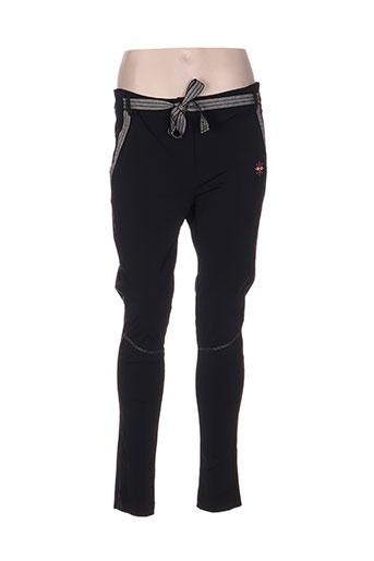 garella pantalons femme de couleur noir