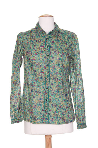 agathe EFFI_CHAR_1 louise chemises femme de couleur vert