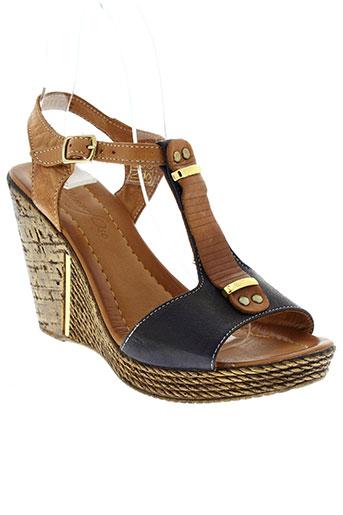 metamorf et ose sandales et nu et pieds femme de couleur bleu