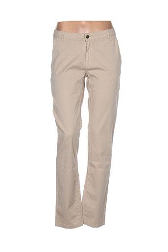 zapa pantalons femme de couleur beige