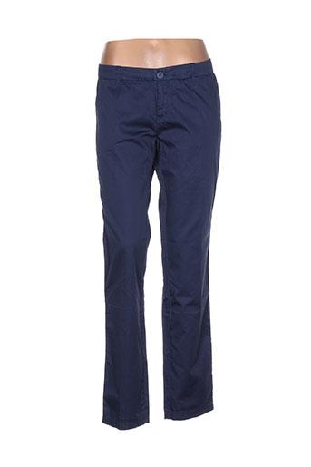 fairly pantalons femme de couleur bleu