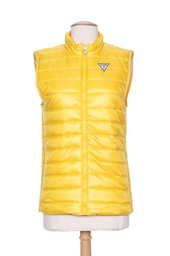guess manteaux garçon de couleur jaune