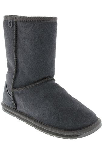 emu et australia boots fille de couleur gris