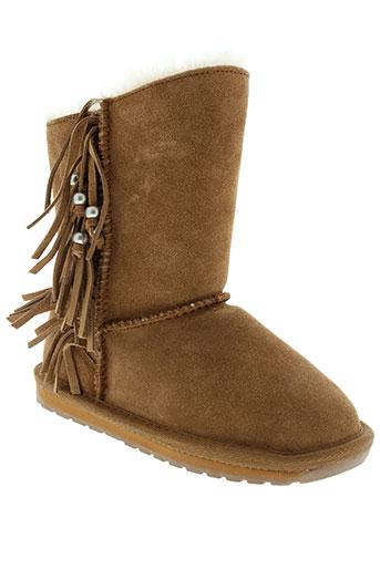 emu et australia boots fille de couleur marron