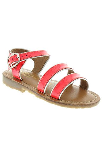 valentine la coquine chaussures fille de couleur rose