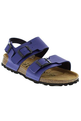 betula sandales et nu et pieds fille de couleur bleu
