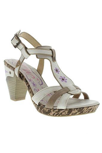 mustang sandales et nu et pieds femme de couleur blanc