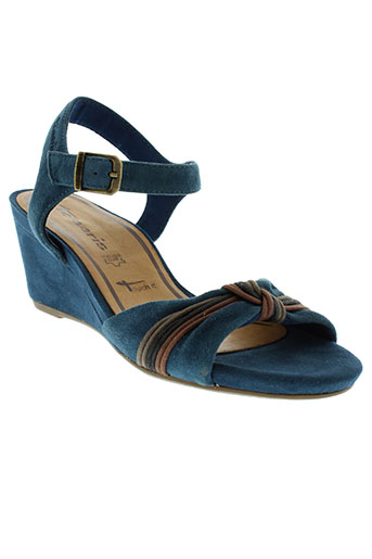 tamaris sandales et nu et pieds femme de couleur bleu