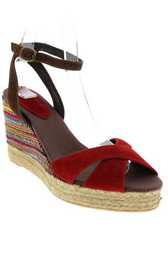 toni et pons sandales et nu et pieds femme de couleur rouge