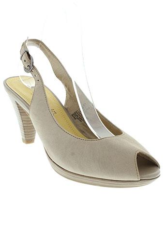 marco et tozzi escarpins femme de couleur beige