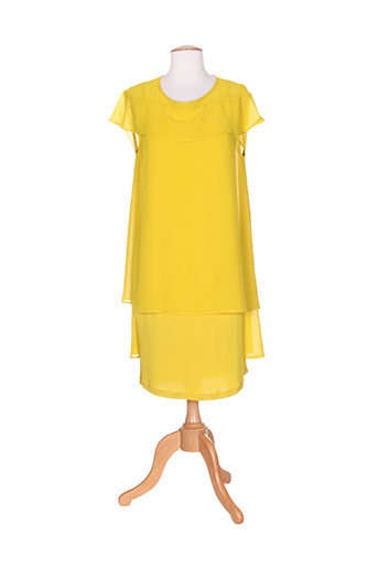 éclà robes femme de couleur jaune